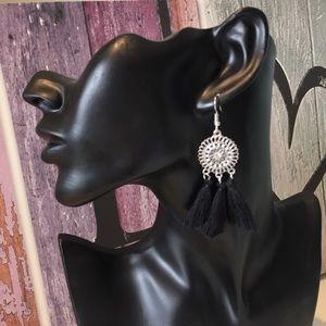 Jewelry - New Black Tassel Boho Earrings